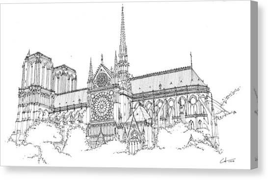 Notre Dame De Paris Canvas Print