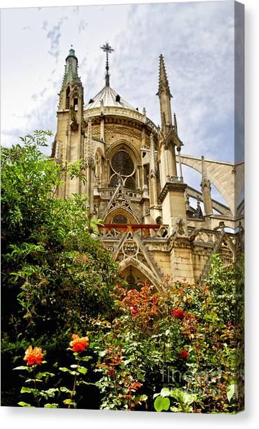 Notre Dame University Canvas Print - Notre Dame De Paris by Elena Elisseeva