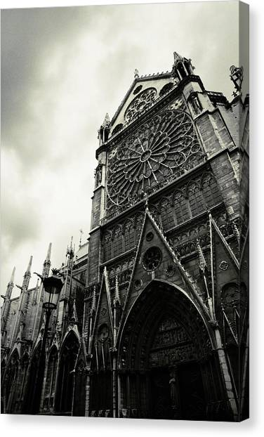 Cathedrals Canvas Print - Notre Dame De Paris by Cambion Art