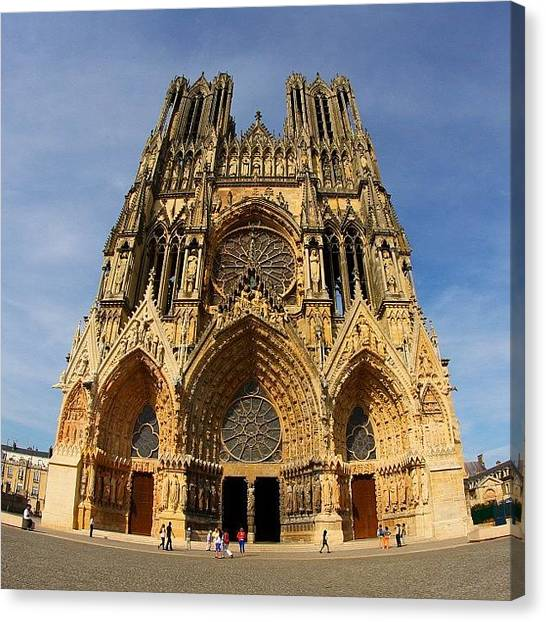 France Canvas Print - Notre Dame De Reims, France. Summer by Brian Governale