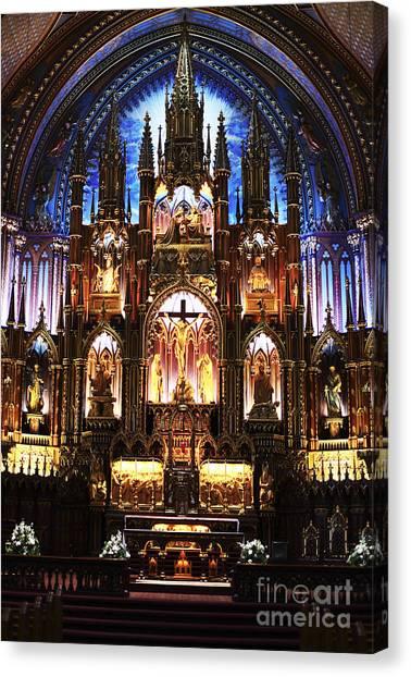 Notre Dame Interior Canvas Print by John Rizzuto