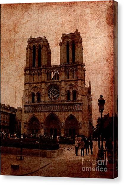 Notre Dame - Paris Canvas Print by Soumya Bouchachi