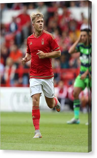 Nottingham Forest V Swansea City - Pre Season Friendly Canvas Print by Jan Kruger