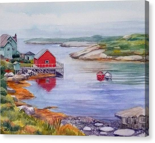 Nova Scotia Harbor Canvas Print