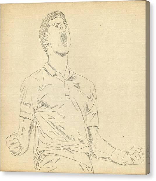 Novak Djokovic Canvas Print - Novak by Scott  Colson