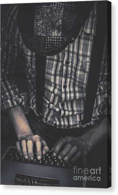 Compose Canvas Print - Novelist Writing Suspense Literature by Jorgo Photography - Wall Art Gallery