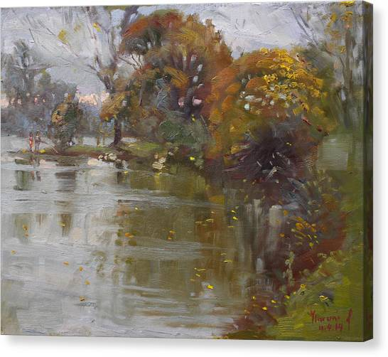 Hyde Park Canvas Print - November 4th At Hyde Park by Ylli Haruni