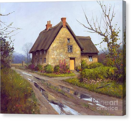 November Cottage  Canvas Print by Michael Swanson