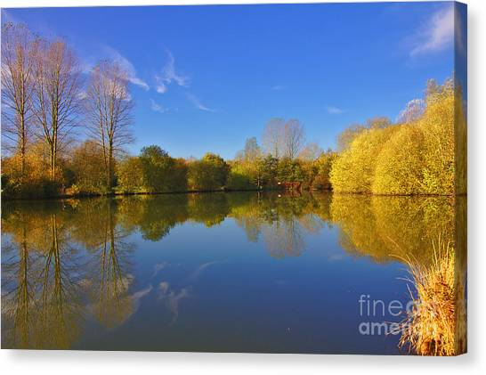 November Lake 1 Canvas Print