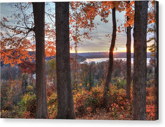 November Morning At The Lake Canvas Print