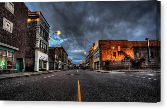 Life-threatening Canvas Print - November Morning Victoria Ave. by Jakub Sisak