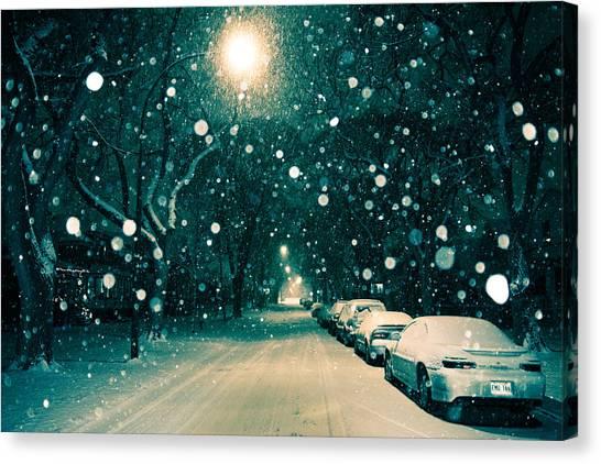 Manitoba Canvas Print - November Snow by Bryan Scott