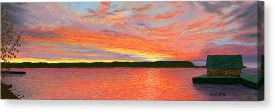 November Sunset Canvas Print