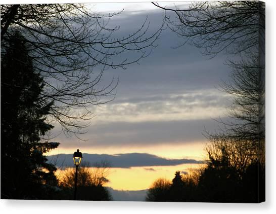 November Sunset Canvas Print