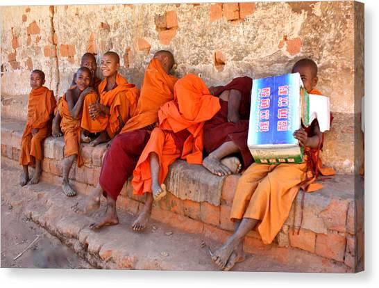 Novice Buddhist Monks Canvas Print
