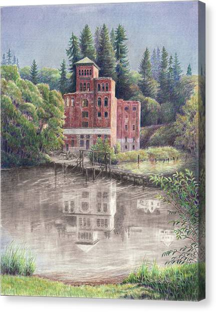 Now And Then - Old Olympia Brewery Canvas Print