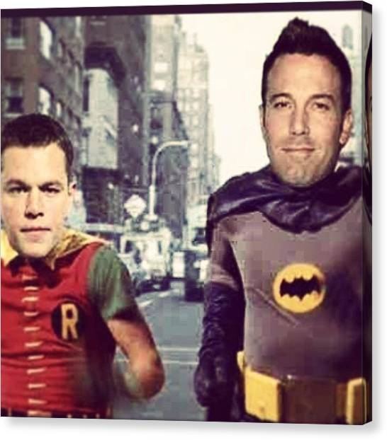 Robins Canvas Print - Now That #benaffleck Is Batman, This by Sam Marriott