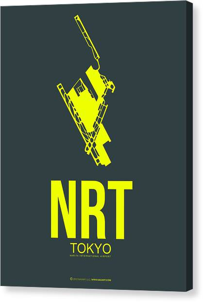 Japanese Canvas Print - Nrt Tokyo Airport Poster 2 by Naxart Studio