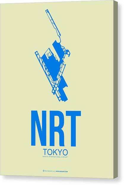 Japanese Canvas Print - Nrt Tokyo Airport Poster 3 by Naxart Studio
