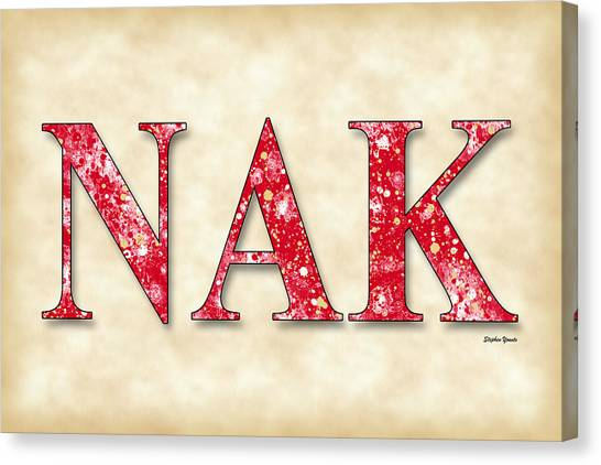 Alpha Kappa Alpha Canvas Print - Nu Alpha Kappa - Parchment by Stephen Younts