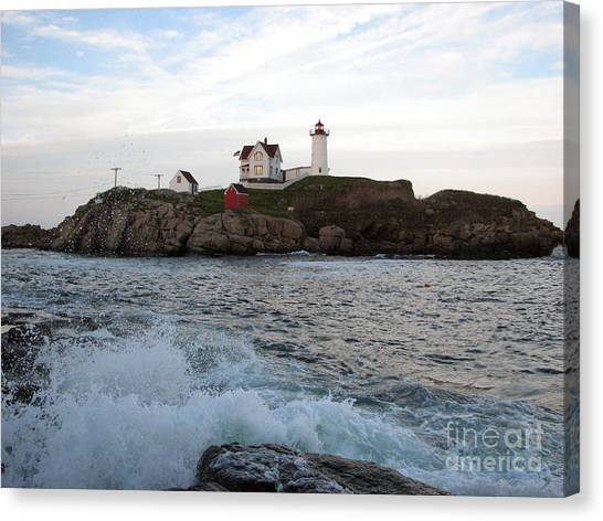 Nubble Light Landscape Canvas Print