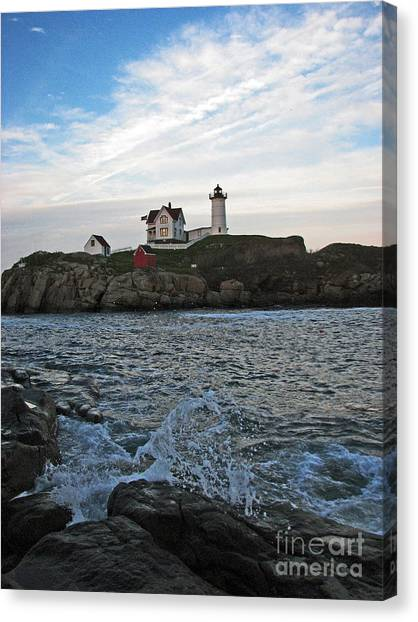 Nubble Light Portrait Canvas Print