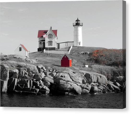 Nubble Light Canvas Print by Timothy Caron