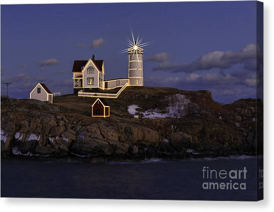 Nubble Lighthouse Ll Canvas Print