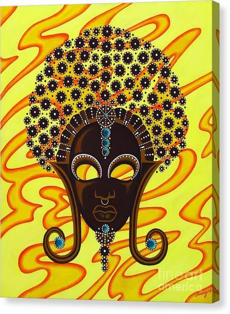 Nubian Modern Afro Mask Canvas Print