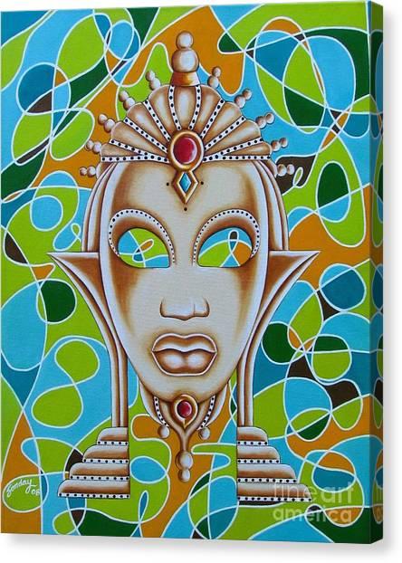 Nubian Modern Ivory Mask  Canvas Print