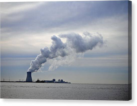Nuclear Plants Canvas Print - Nuclear Grey by Skip Willits
