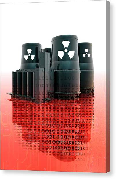 Nuclear Plants Canvas Print - Nuclear Power by Victor Habbick Visions