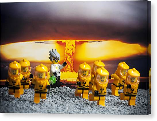 Crazy Canvas Print - Nuclear by Samuel Whitton