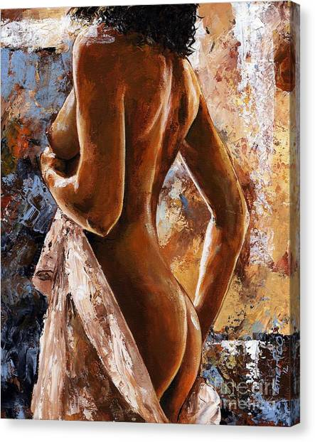 Erotic Canvas Print - Nude 07 by Emerico Imre Toth