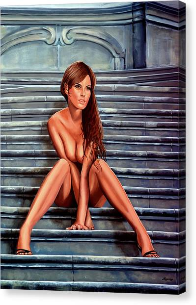 Naked Woman Canvas Print - Nude City Beauty by Paul Meijering