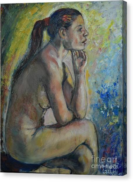 Nude Eva 2 Canvas Print