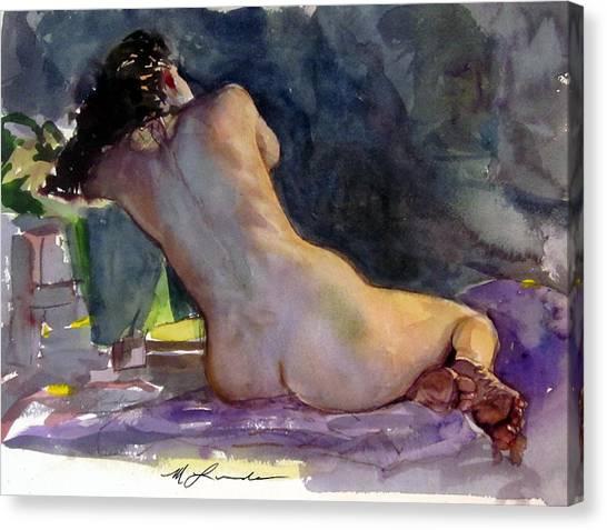 Nude Female Back Canvas Print