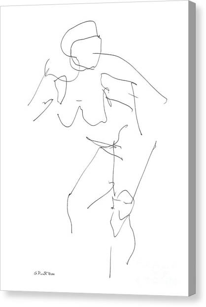 Nude Female Drawings 14 Canvas Print