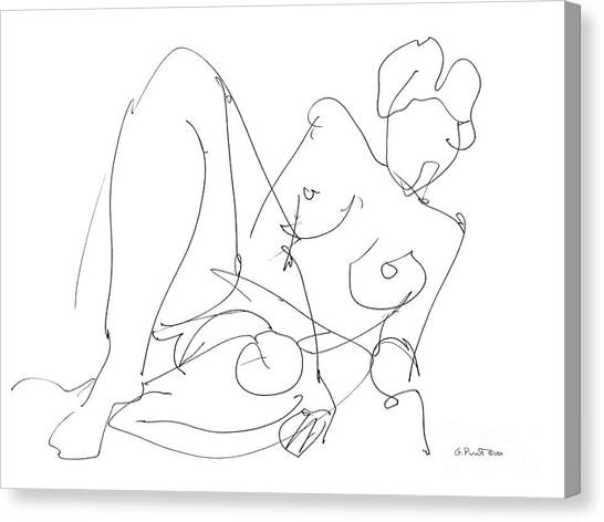 Nude Female Drawings 15 Canvas Print