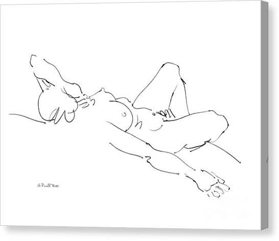 Nude Female Drawings 2 Canvas Print