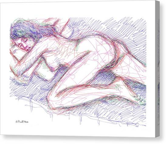Nude Female Sketches 5 Canvas Print