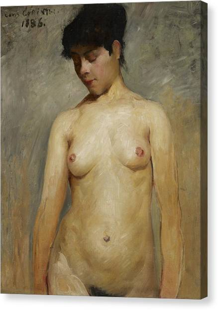 Nipples Canvas Print - Nude Girl by Lovis Corinth