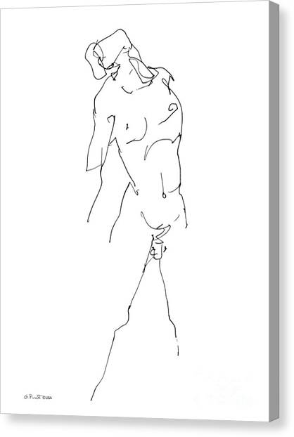 Nude-male-drawing-11 Canvas Print