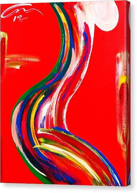 Nude Profile - Edition 4 Canvas Print by Mac Worthington