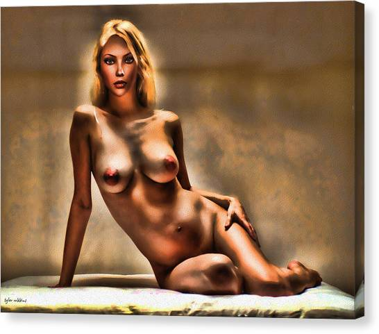 Nude Reclining Canvas Print by Tyler Robbins
