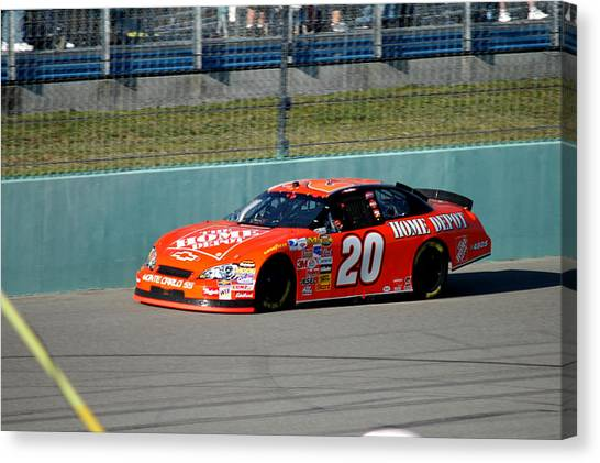 Tony Stewart Canvas Print - Number 20 Ts by Kevin Cable