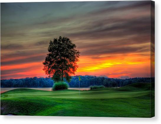 Jack Nicklaus Canvas Print - Number 4 The Landing Reynolds Plantation Art by Reid Callaway