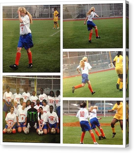 Soccer Teams Canvas Print - Number 7⃣ Represent by Tetyana Gobenko