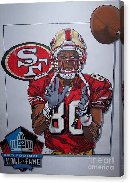 Jerry Rice Canvas Print - Number 80 by Jerry Foxworth