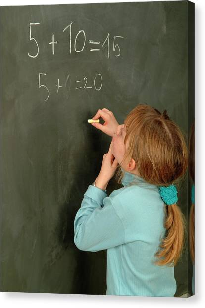 Classroom Canvas Print - Numeracy by Cc Studio/science Photo Library